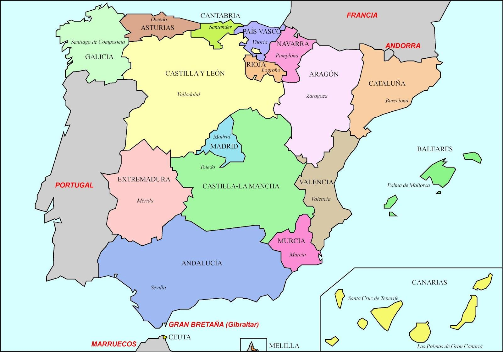 kart over andorra Middelalderens Spania kart   Kart over Spania middelalderen (Sør  kart over andorra
