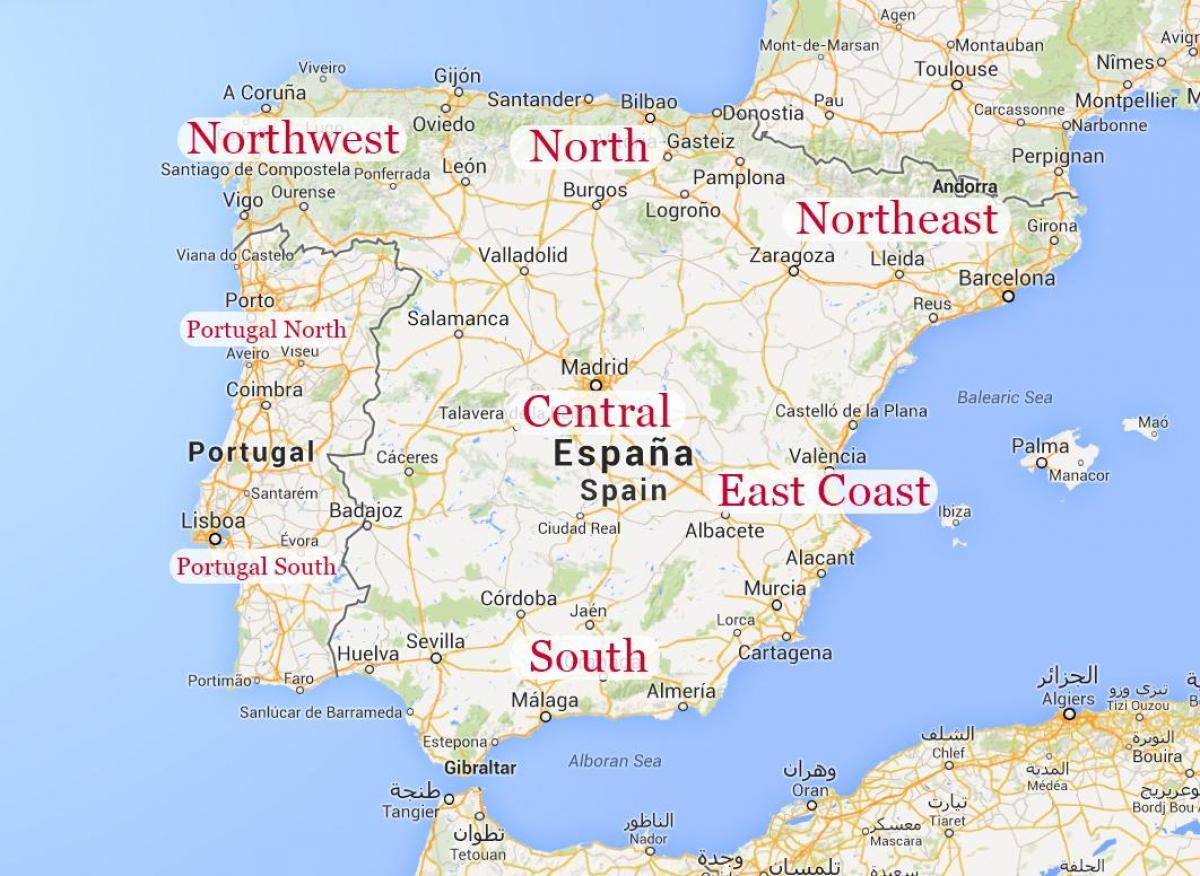 kart over spania kysten Kart over øst Spania   Kart over øst Spania kysten (Sør Europa  kart over spania kysten