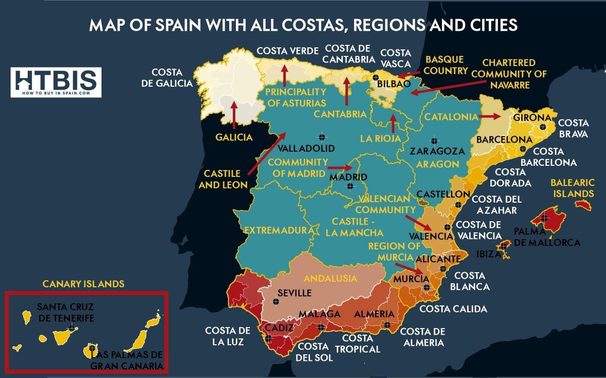 kart sør spania Kart over sør Spania kysten   Kart over sør Spania kysten (Sør  kart sør spania