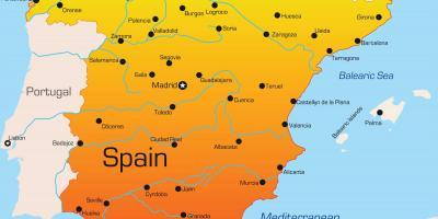 kart over valencia spania Kart over sør Spania   Detaljert kart over det sørlige Spania (Sør  kart over valencia spania