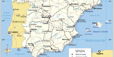 kart spania mallorca Spania kart   Kart Spania (Sør Europa   Europa) kart spania mallorca